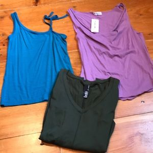 MICHAEL STARS BOBI NIKITA *Bundle of 3* Tops XS